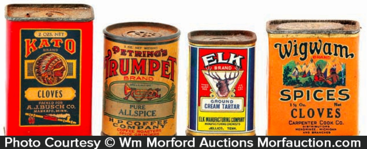 Early Spice Tins