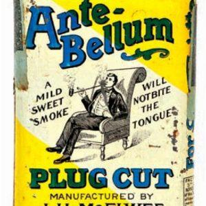 Ante-Bellum Plug Cut Tobacco Tin