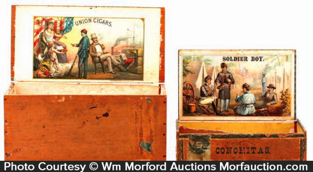 Civil War Union Cigar Boxes