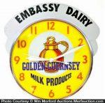 Embassy Golden Guernsey Milk Clock