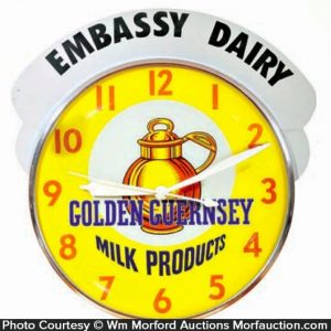 Embassy Golden Guernsey Milk Clock