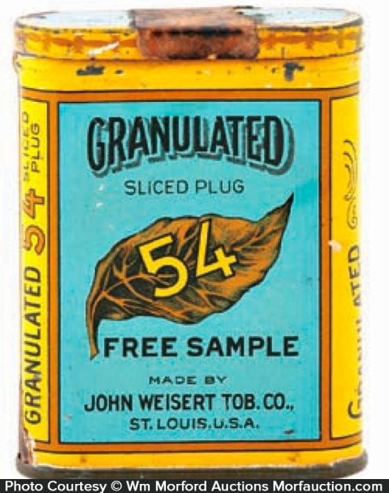 Granulated 54 Sample Tobacco Tin