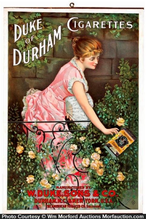 Duke Of Durham Cigarettes Sign