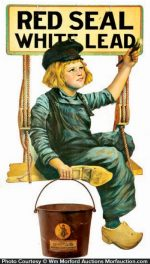 Dutch Boy Red Seal String Holder Sign