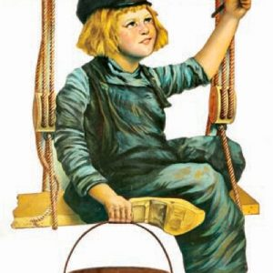 Dutch Boy Red Seal String Holder Sign