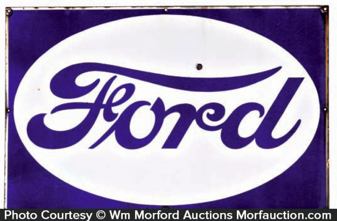 Ford Motor Porcelain Sign