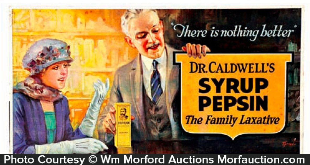 Dr. Caldwell's Syrup Pepsin Sign