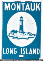 Montauk Long Island Door Push Sign