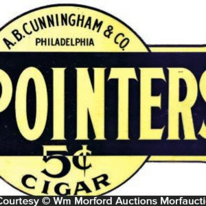 Pointers Cigars Sign