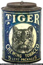 Tiger Tobacco Tin