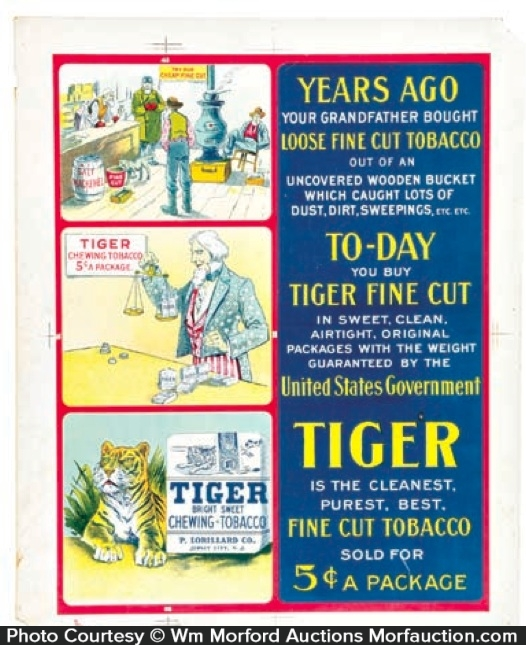 Tiger Tobacco Sign