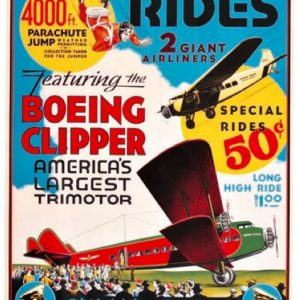 Inman Flying Circus Airplane Poster