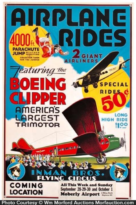 Inman Flying Circus Airplane Poster