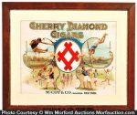 Cherry Diamond Cigar Sign