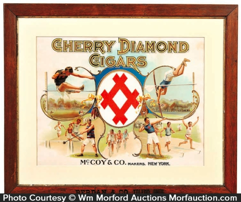 Cherry Diamond Cigar Sign