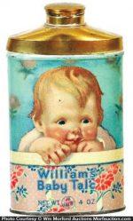 Williams Baby Talc Tin