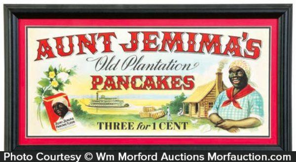 Aunt Jemima Pancakes Sign