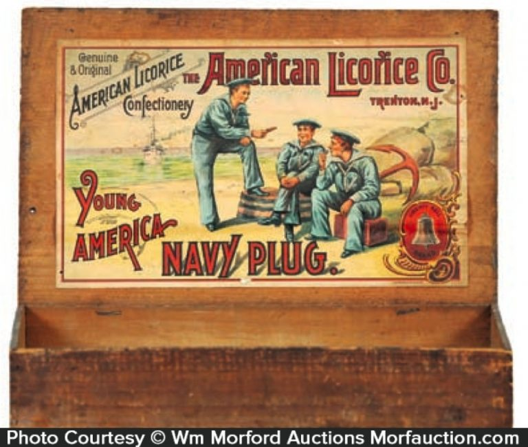 American Licorice Navy Candy Box