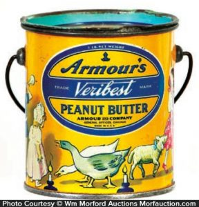 Armour's Veribest Peanut Butter Pail