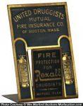 United Druggists Fire Insurance Letter Holder