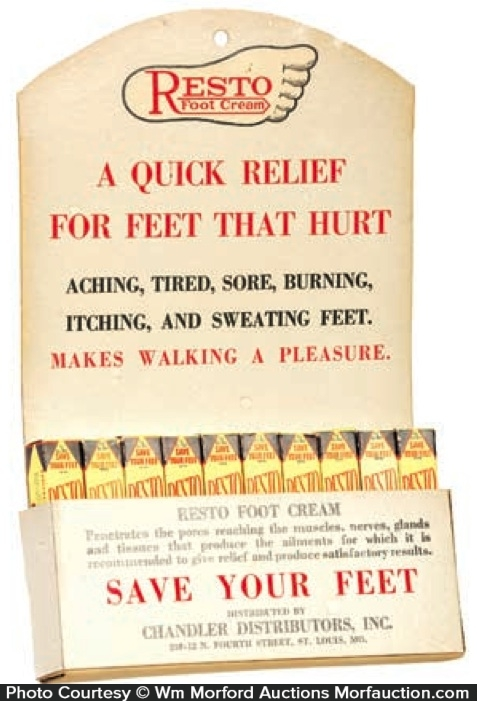 Resto Foot Cream Display