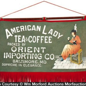 American Lady Tea & Coffee Banner Sign
