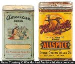 Vintage Indian Theme Spice Tins