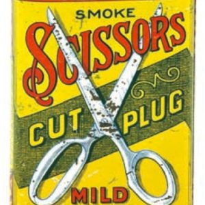 Scissors Tobacco Tin