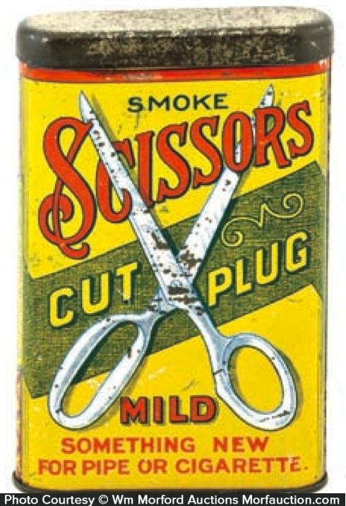 Scissors Tobacco Tin