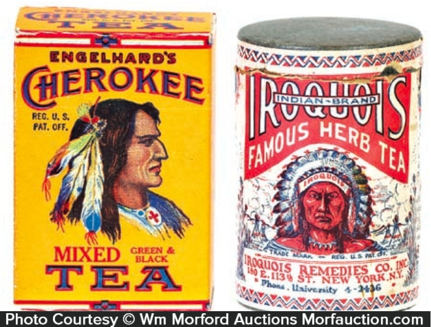 Cherokee and Iroquois Tea Boxes