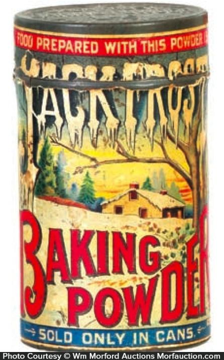 Jack Frost Baking Powder Tin
