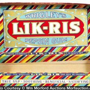 Wrigley's Lik-Ris Gum Box