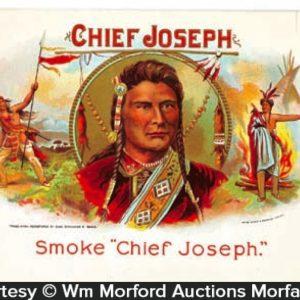 Chief Joseph Cigar Label