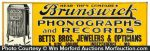 Brunswick Phonographs Sign