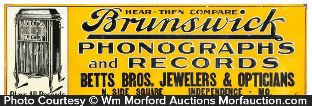 Brunswick Phonographs Sign