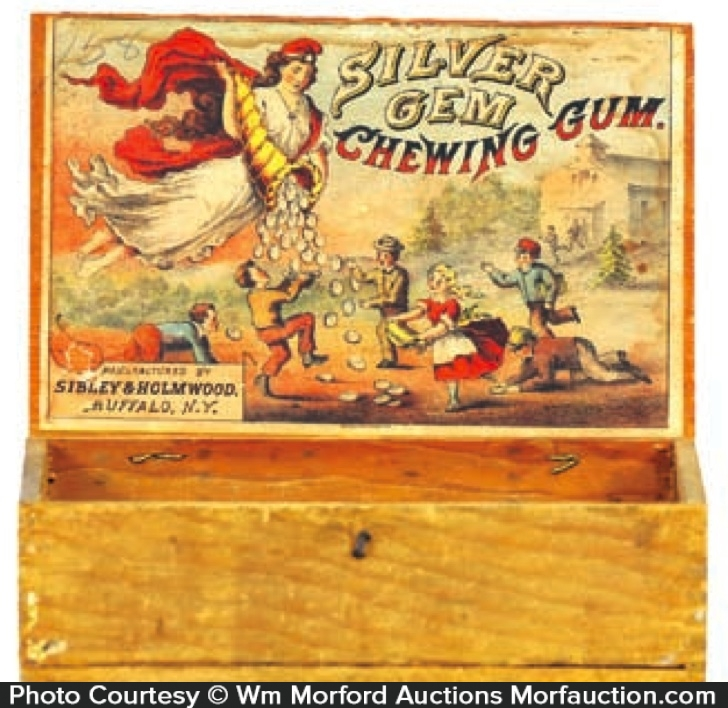 Silver Gem Gum Box