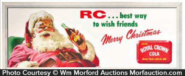 Rc Cola Christmas Sign