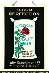 American Beauty Flour Sign