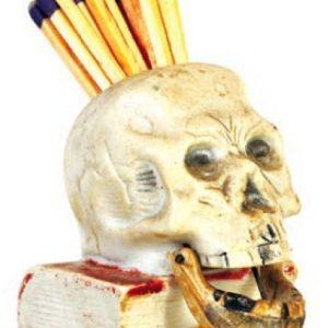Vintage Skull Match Holder