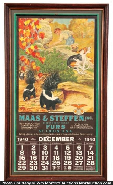 Maas & Steffen Furs Calendar