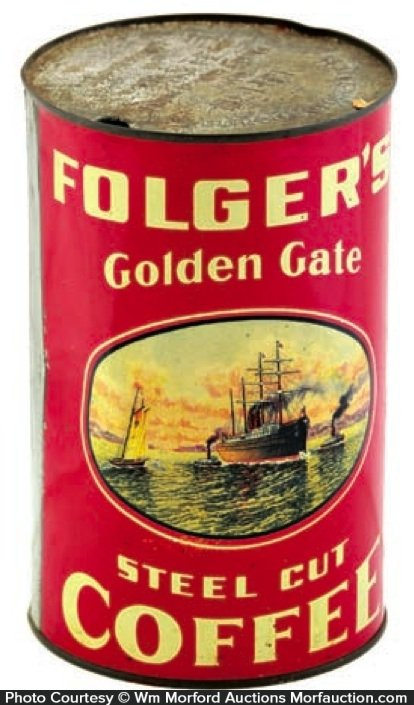Folger's Golden Gate Coffee Can
