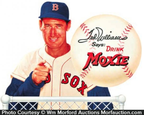 Ted Williams Moxie Sign