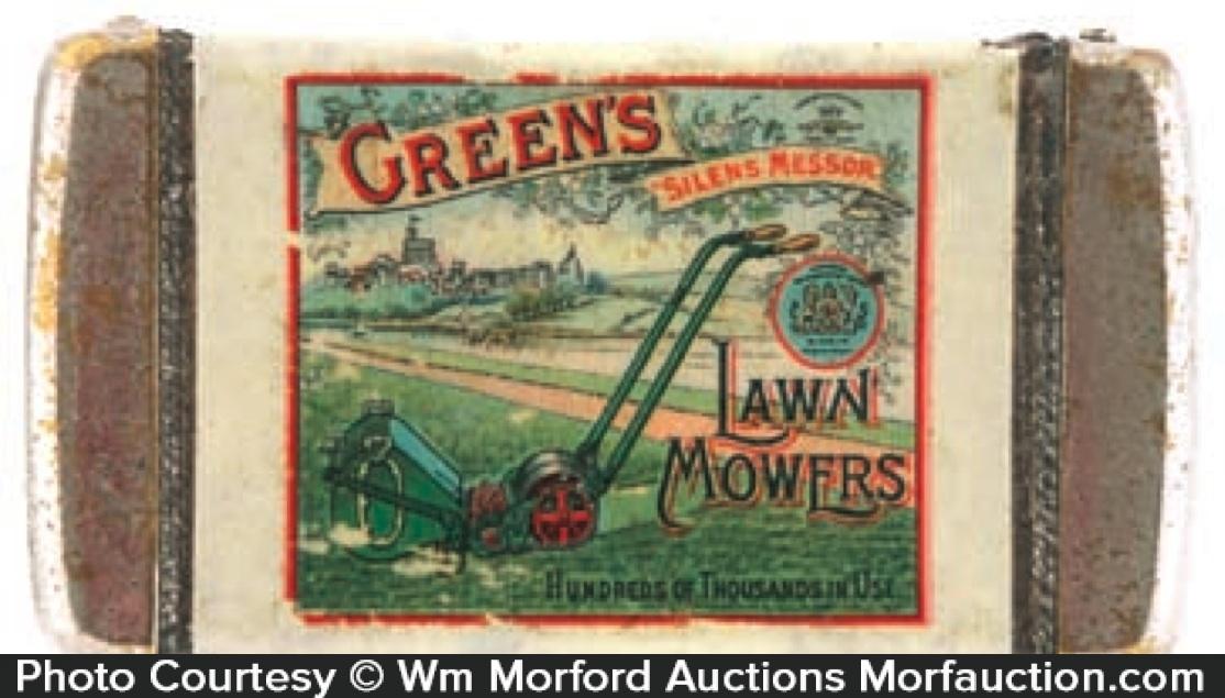 Green's Lawn Mower Match Safe
