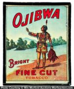 Ojibwa Tobacco Magic Lantern Ad