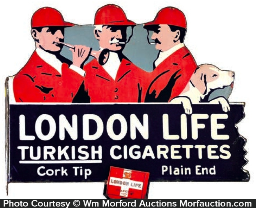 London Life Cigarettes Sign