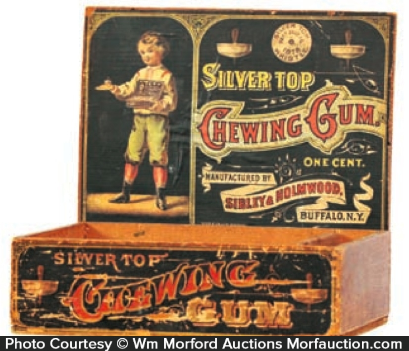 Silver Top Gum Box