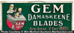 Gem Damaskeene Razor Sign