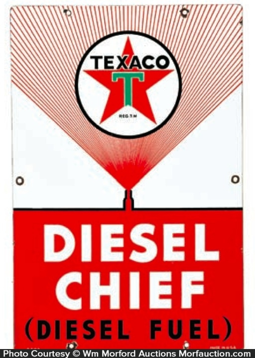 Texaco Diesel Chief Sign