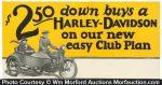 Harley Davidson Window Card