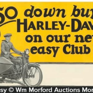Harley Davidson Window Card